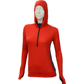 Aclima LightWool Hoodie Dam high risk red/iron gate